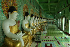 Sacred Buddha statues of Myanmar Royalty Free Stock Images