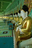 Sacred Buddha statues of Myanmar Royalty Free Stock Image