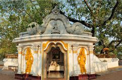 Sacred Buddhist Maha Bodhi tree, Sri Lanka Stock Photography