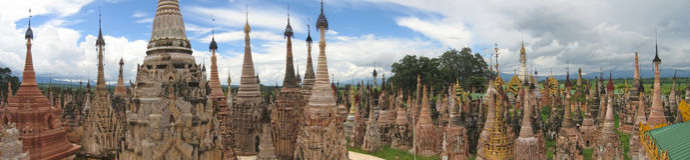 Sacred buddhist site Stock Image