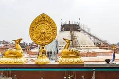 Sacred buddhist symbols Royalty Free Stock Photo