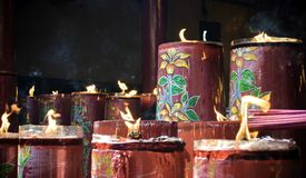 Sacred candles Royalty Free Stock Photos