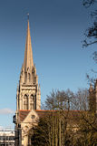 Sacred Cathedral. Old Cathedral in the bright sky royalty free stock photography