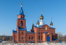 Sacred Church of St. George. Zavodoukovsk. Russia Stock Image