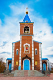 Sacred church. The temple of the icon of the blessed virgin Mary Royalty Free Stock Image