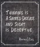 Sacred disease Heraclitus quote stock photo