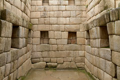 Sacred doorway the lost city of Machu Picchu, Peru Stock Image