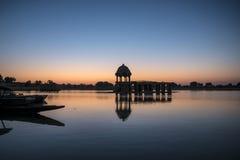 Sacred Gadi Sagar lake in Jaisalmer, India Royalty Free Stock Image
