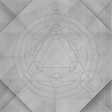 Sacred geometry abstract gray background Stock Images