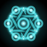 Sacred geometry abstract vector illustration. Symbol of alchemy, religion and spirituality royalty free illustration