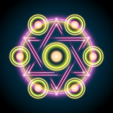 Sacred geometry abstract vector illustration. Symbol of alchemy, religion and spirituality vector illustration