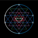Sacred geometry and alchemy symbol Sri Yantra Royalty Free Stock Photography
