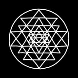 Sacred geometry and alchemy symbol Sri Yantra. Hand drawn sketch for your design. Vector illustration stock illustration