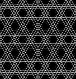 Sacred geometry black and white hipster fashion pillow pattern Stock Photo