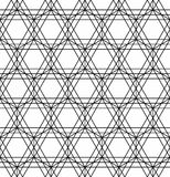 Sacred geometry black and white hipster fashion pillow pattern Stock Photography
