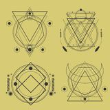 sacred geometry pack royalty free illustration
