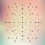 Geometry sacred blur Royalty Free Stock Images