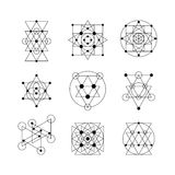 Sacred geometry elements Stock Images