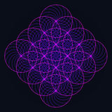 Sacred geometry flower Stock Photography