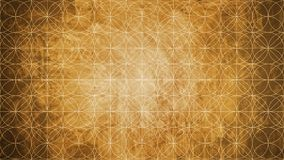 Sacred geometry in flower pattern shape. On old paper texture Stock Photo