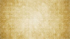 Sacred geometry in flower pattern shape stock illustration