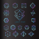 Sacred geometry forms. Shapes of lines, logo, sign, symbol