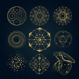 Sacred geometry forms, shapes of lines, logo Stock Photography