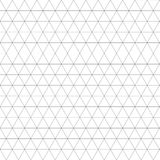 Sacred geometry grid graphic deco hexagon pattern. Black and white graphic design print halftone triangle pattern Royalty Free Stock Images
