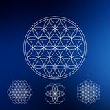 Sacred geometry. Hipster symbols and elements Stock Images