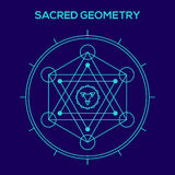 Sacred geometry. Hipster symbols and elements Royalty Free Stock Photography