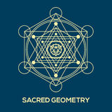 Sacred geometry. Hipster symbols and elements Stock Photography