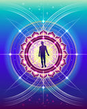 Sacred Geometry of human life. The symbolic, abstract image of human development with elements of sacred geometry as a scientific method for the study of life Royalty Free Stock Images