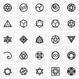 Sacred geometry icons Stock Photography