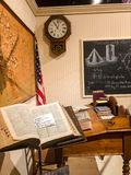 Sacred Geometry Learning in The Past McHenry Museum. An image of learning in the past captured at McHenry Museum in Modesto California stock photography