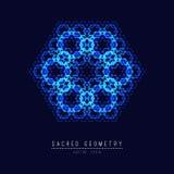 Sacred geometry line vector element flower of life . Vector illustration . Sacred geometry line vector element flower of life stock illustration