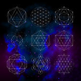 Sacred geometry. Numerology astrology signs and symbols Stock Photos