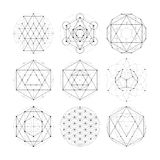 Sacred geometry. Numerology astrology signs and symbols Stock Photography