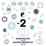 Sacred geometry and numerology symbols vector illustration. Stock Photo