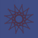 Sacred geometry pattern in vector. Arabic pattern Stock Images