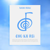 Sacred geometry. Reiki symbol. The word Reiki is made up of two Japanese words Royalty Free Stock Photo