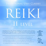 Sacred geometry. Reiki symbol. The word  is made up of two Japanese words, Rei means `Universal` - Ki  `life force energy`. Royalty Free Stock Photography