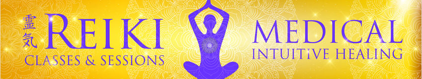 Sacred geometry. Reiki symbol. The word Reiki is made up of two Japanese words, Rei means `Universal` - Ki means `life force energy Stock Image