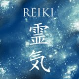 Sacred geometry. Reiki symbol. The word Reiki is made up of two Japanese words, Rei means `Universal` - Ki means `life force en Stock Photo