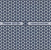 Sacred geometry, seamless pattern `Flower of life`. Easily repainted in any color, designed for printing, web design and decoration for the Chinese New Year vector illustration