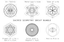 Free Sacred Geometry Set Royalty Free Stock Images - 65660849