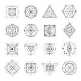 Sacred Geometry Set Stock Images