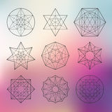 Sacred geometry set Stock Photo