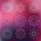 Sacred geometry set Stock Images
