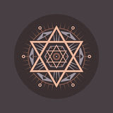 Sacred geometry sign. Abstract vector pattern. Mystic vector badge.  Stock Photo