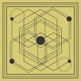sacred geometry square design royalty free illustration